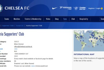 Gold Status und Aufnahme auf der offiziellen Chelsea Website